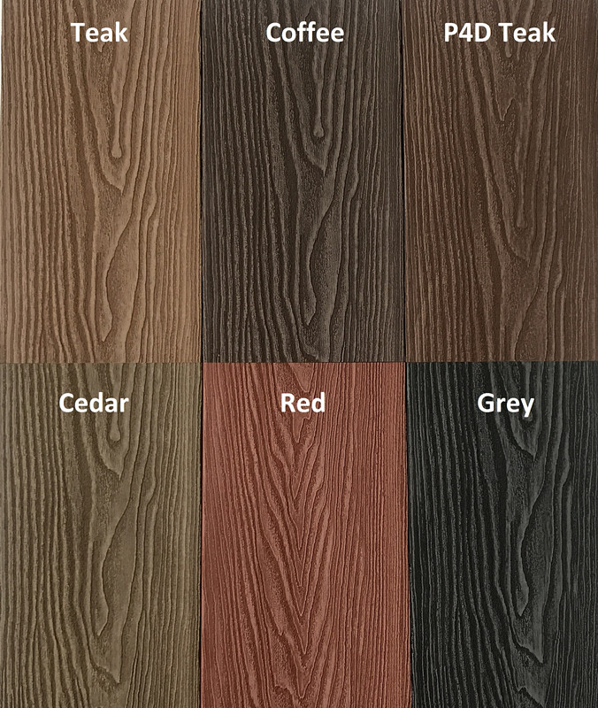 3D SUPER EMBOSSED DECKING ( Coffee color )